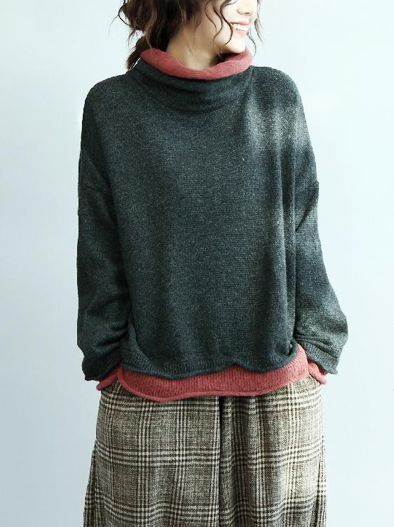Loose Batwing Sleeves Knitting Sweater