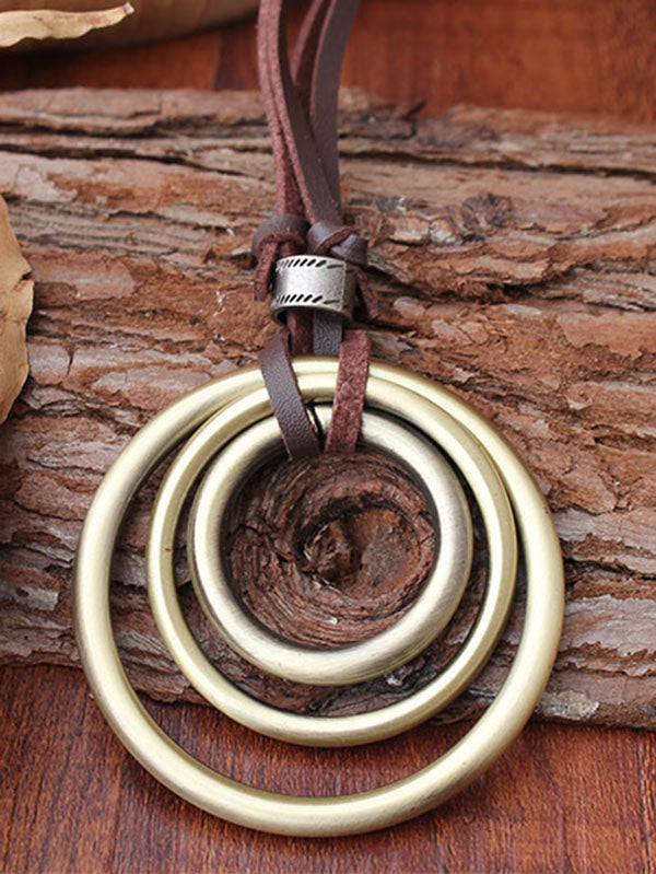 Retro Rings Necklace
