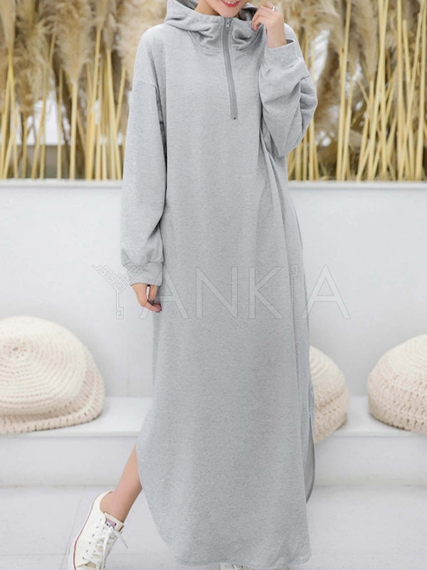 Simple Loose 2 Colors Long Dress