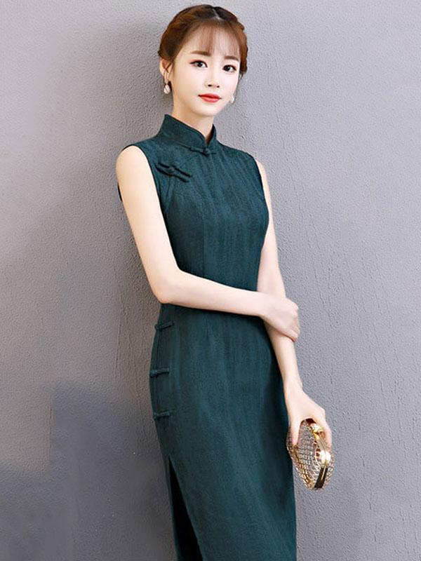 Comfortable Cotton Short Cheongsam