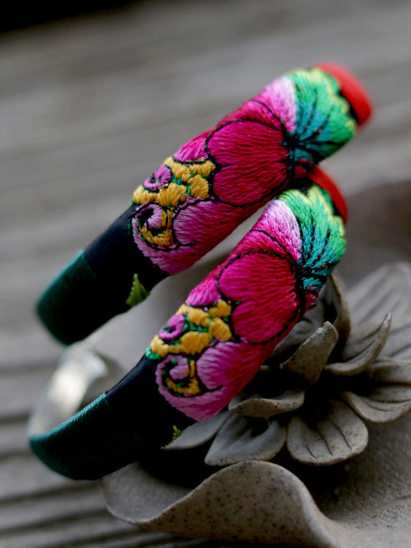 Ethnic Style Hand Embroidery Bracelet