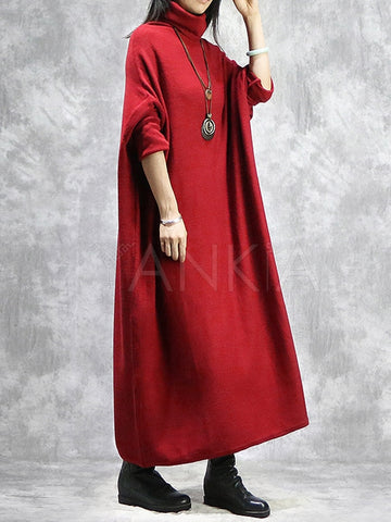 Silk Batwing National Printed Long Robe