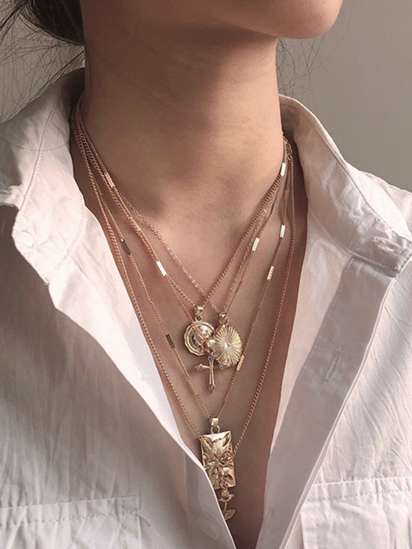 5 Chains Fashion Necklace