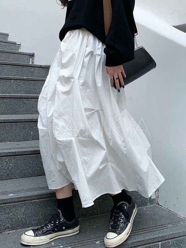 Loose Ruffled Fashion Designed Skirt