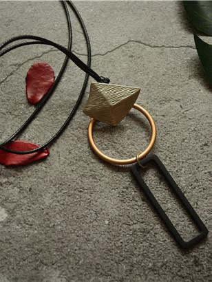 Geometry Simple Long Necklace