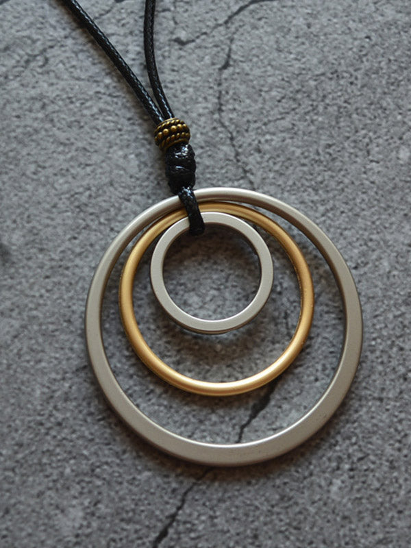 Simple Multi-layer Circle Necklace