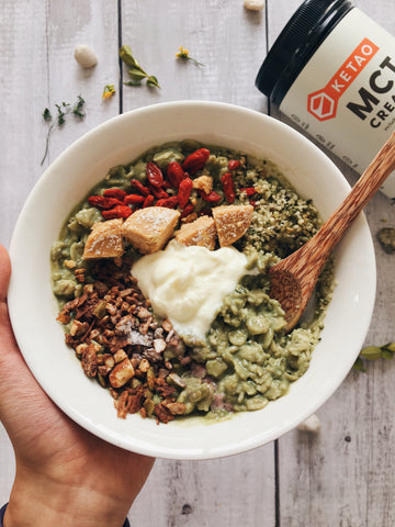 Matcha Oats with MCT