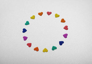 "HEARTS ""embroidered"" - Hoodie - LGBTPQ - Shop"