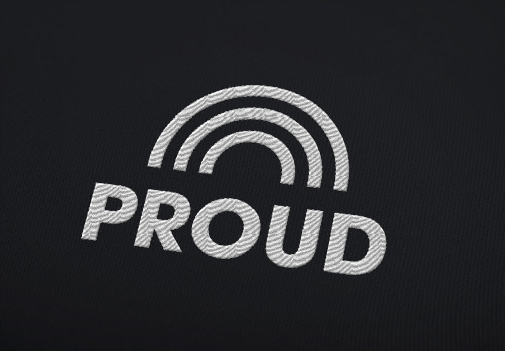 "PROUD ""embroidered"" - Shirt - LGBTPQ - Shop"