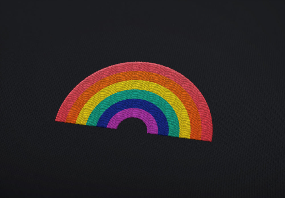 "RAINBOW ""embroidered"" - Hoodie - LGBTPQ - Shop"