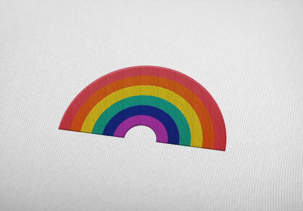 "RAINBOW ""embroidered"" - Shirt - LGBTPQ - Shop"