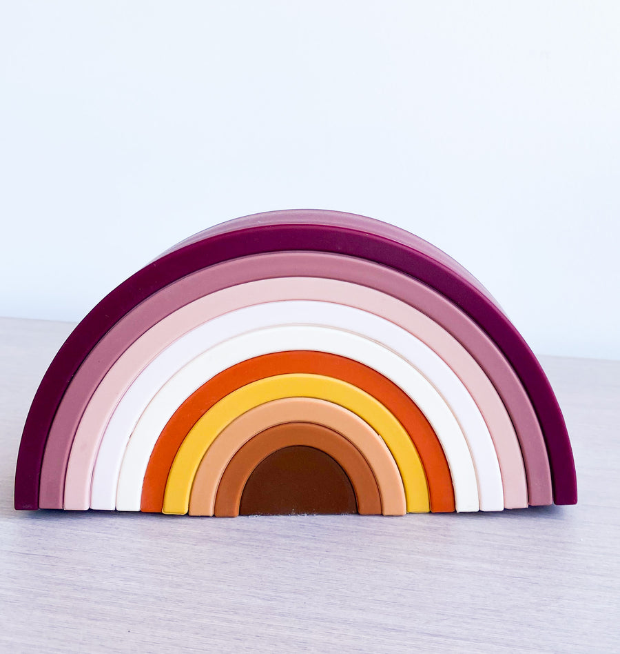 Silicone Rainbow Stacker