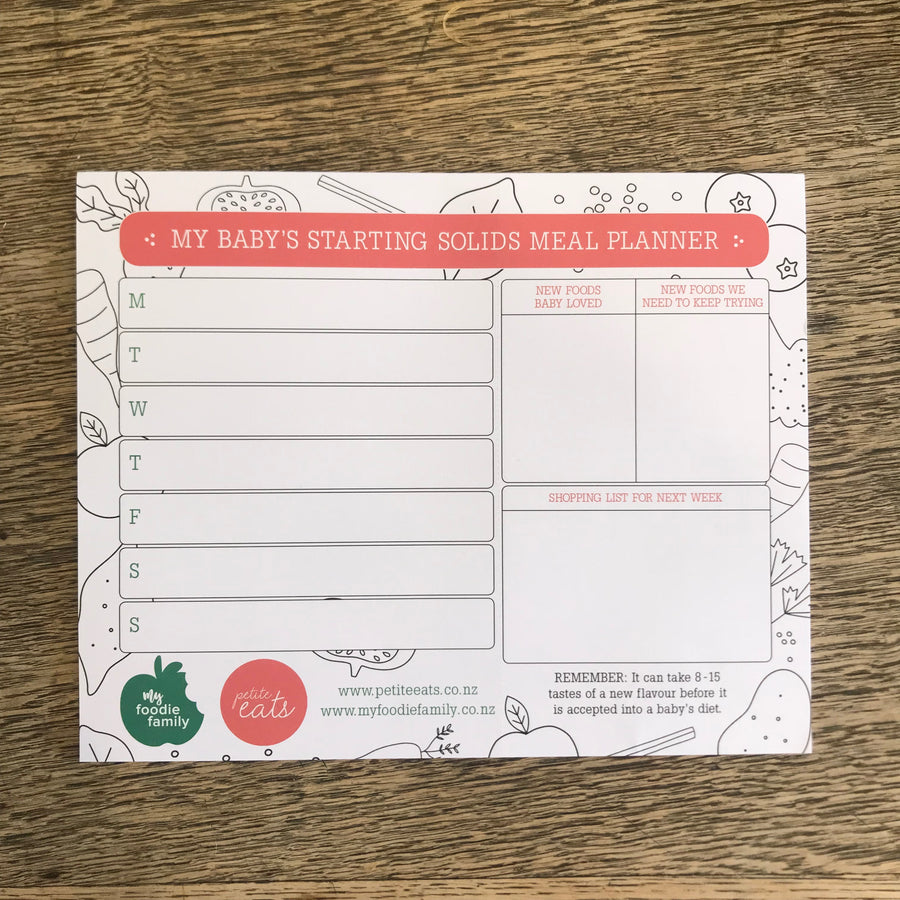 Starting Solids Meal Planner
