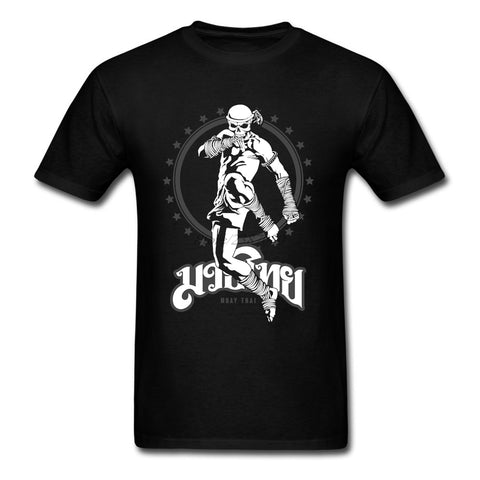 """Muay Thai Skull Fighter"" T Shirt"