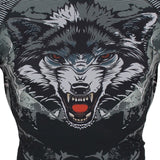 "SUOTF  ""Black Ferocious Wolf Head"" Rash Guard"