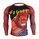 "WTUVIVE ""Red Boxing Gorilla"" Rash Guard"