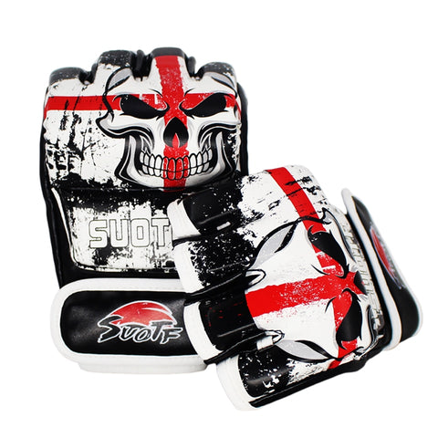 "suotf MMA ""Red Cross Skull"" Cage Gloves"