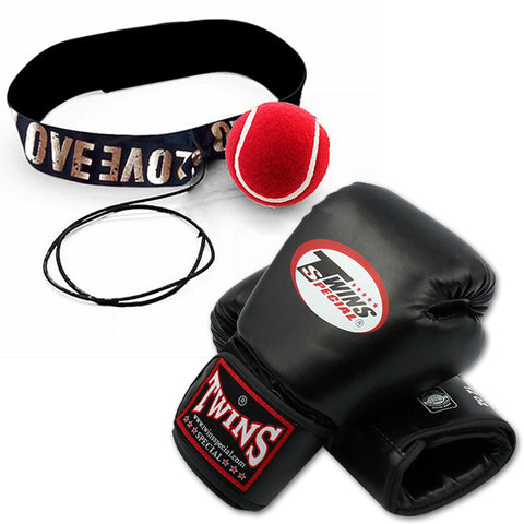 Twins Bag / Boxing Gloves with Free Speedball Device