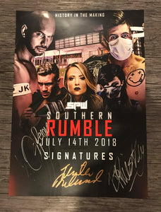 SIGNED SPW Southern Rumble 2018 Poster - A3