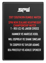 Load image into Gallery viewer, SPW Southern Rumble 2017 DVD