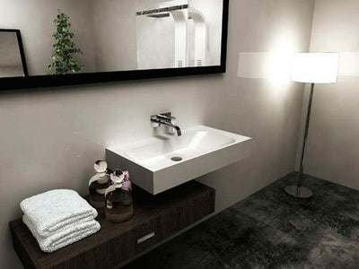 BSH4 Solid Surface Stone Basin 600mm