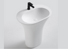 BSL13 freestanding stone basin 630mm