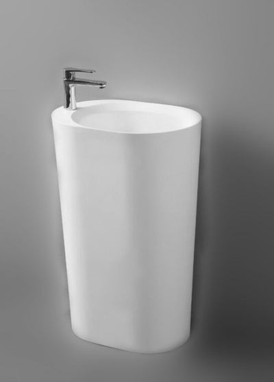 CSB86 Freestanding Solid Surface Stone Basin 550mm