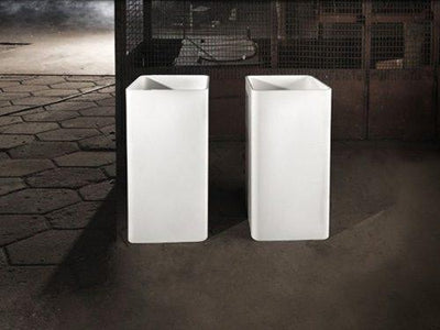 CSB81 Mel Freestanding Natural Stone Basin 500mm