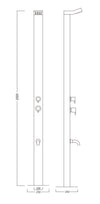 Sta10 Roc Stainless Steel Outdoor Shower Architect Design