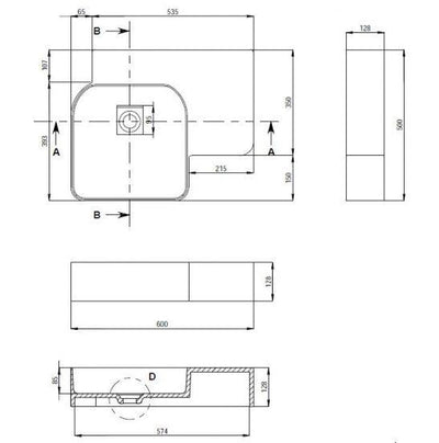 Toka Lite WM03-600 Basin Architect Design