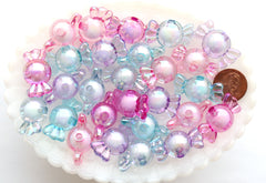 Candy Beads - 28mm Big AB Pastel Candy Shape Acrylic or Resin Beads - 20 pc set