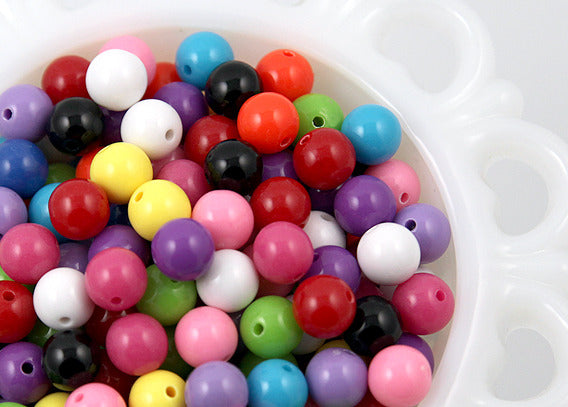 10mm Chunky Gumball Bubblegum Resin Beads - 100 pc set