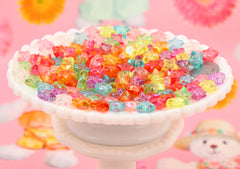 Star Beads - 12mm Small AB Stars Iridescent Pastel Resin or Acrylic Beads, mixed color, small size beads - 150 pcs set