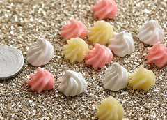 12mm Whipped Cream Dollop Cabochons - 9 pcs set