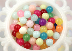 12mm Jelly Candy Translucent Gumball Bubblegum Resin or Acrylic Beads - 50 pcs set
