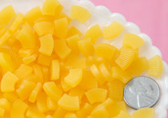 Fake Pineapple Slices - 12mm Tiny Fake Pineapple Slices Soft Squishy Silicone Fruit or Resin Cabochons - 14 pc set