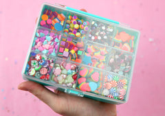 Candy Collection Gift Set - Tiny Rhinestone and Resin Flat back Cabochon Assortment for Nail Art, Jewelry, Slime, Decoden - over 1000 pcs