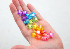 Star Beads - 16mm Amazing AB Double Inner Bead Star Acrylic or Resin Beads - 18 pcs set