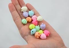 17mm Pastel Strawberry Acrylic Beads - Small Beautiful Bright Kawaii Strawberry Shape Resin Beads - 50 pc set