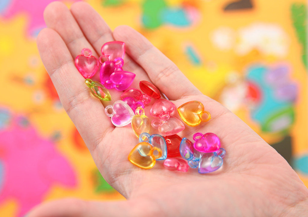 17mm little transparent heart acrylic or plastic dangly hearts 17mm little transparent heart acrylic or plastic dangly hearts charms or pendants 100 pc set mozeypictures Gallery