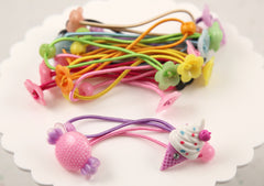 85mm Fun DIY Blank Elastic Hair Bands - Make your own Cute Hair Ties - 20 pc set