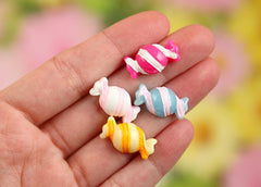 10mm Tiny Wrapped Candy Resin Cabochons - 10 pcs set