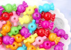 B-Grade - 20mm Bright Color Candy Shape Acrylic or Resin Beads - 50 pc set
