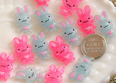20mm Bright Bunny Resin Cabochons - 12 pc set