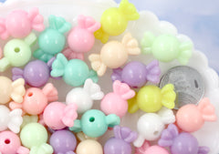 22mm Chunky Pastel Candy Shape Acrylic or Resin Beads - 50 pc set
