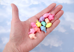 Pastel Star Charms - 21mm 3D Pastel Stars Acrylic or Resin Charms or Pendants - 28 pc set