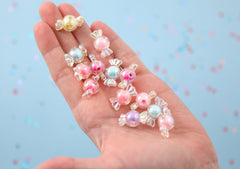 Candy Beads - 22mm AB Pastel Candy Shape Acrylic or Resin Beads - 30 pc set
