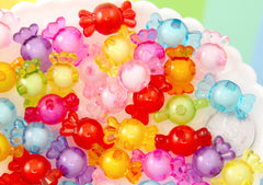 Candy Beads - 22mm Small Candy Shape Acrylic or Resin Beads - 30 pc set