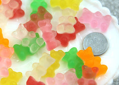23mm Fake Gummy Bears Cabochons - Regular Size - 6 pc set
