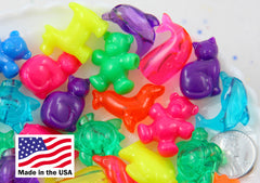 Animal Beads - 25mm Cute Marine Animals and Pets Shape Acrylic or Resin Beads - Cat, Dolphin, Whale, Bear, Turtle, Dog, Fish - 24 pc set